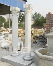 Marble roman column house pillars designs importer