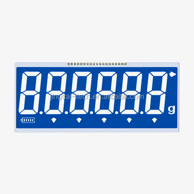 2017 new arrival Jingcai htn negative 5/6 digits 7 segment scale lcd display