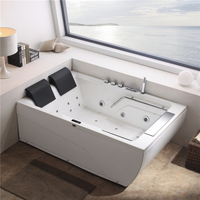 Bathroom fashionable design acrylic used bathtub