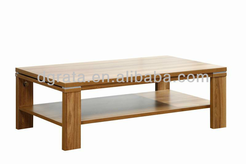 2013 modern wooden center table is made by E1 solid chipboard for living room