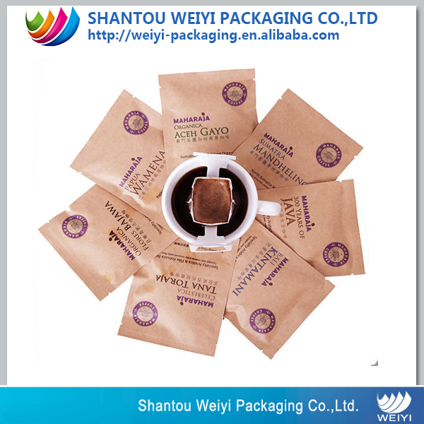 peel and stick coffee bags kraft paper aluminum lined tie