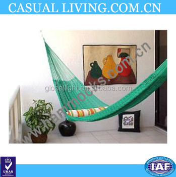 Factory Production Indoor Green Single Net Hammock