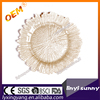 High Quality Wedding decoration light gold antique charger plate glass for sale