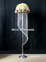Wedding flower stand centerpieces , table top chandelier centerpieces for weddings