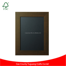 Finished wood frame advertising display chalkboard