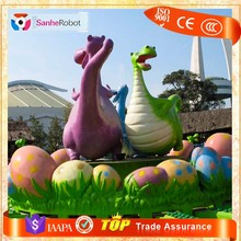 Life Style 3D cartoon character statue famous modern art fiberglass cartoon sculpture