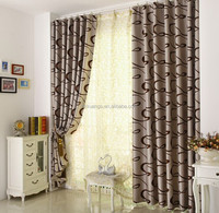 Jacquard curtain fabric /100% Jacquard polyester shade cloth