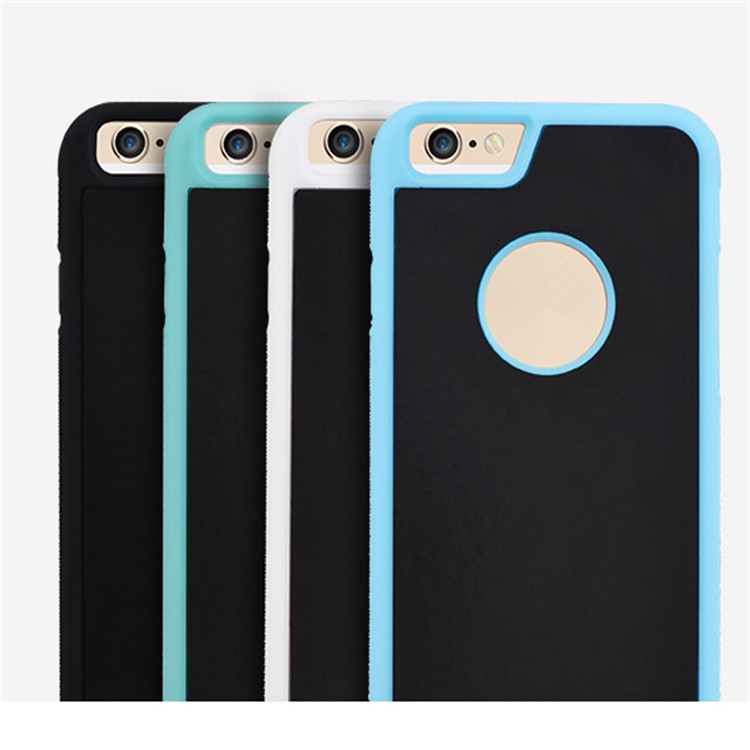 Self stick magic phone case for iphone 6 6s plus can adsorb all flat surface mirror / car / wall / blackboard
