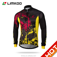 2016 OEM sublimation Windproof and Waterproof cycling Jacket