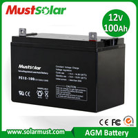Factory Direct 12V 100Ah UPS Battery for Solar PV System