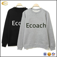 Ecoach wholesale free shipping autumn winter 100%cotton fleece crew neck printed custom women pullover sweaters