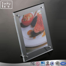 Fashion Acrylic Tabletop Photo Frame with Advertisement nail