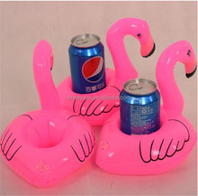 Mini Flamingo Floating Inflatable Drink Can Cell Phone Holder Stand Pool Toys Event & Party Supplies DHL Freeshipping
