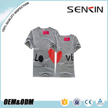 screen printing t-shirts couple shirts, 100% cotton lovers designing t-shirt wholesale