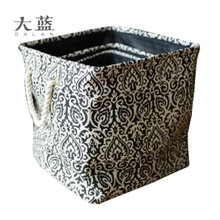 High quality paper fabric decorative storage Box and Bins with handle