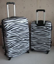 zebra print luggage case