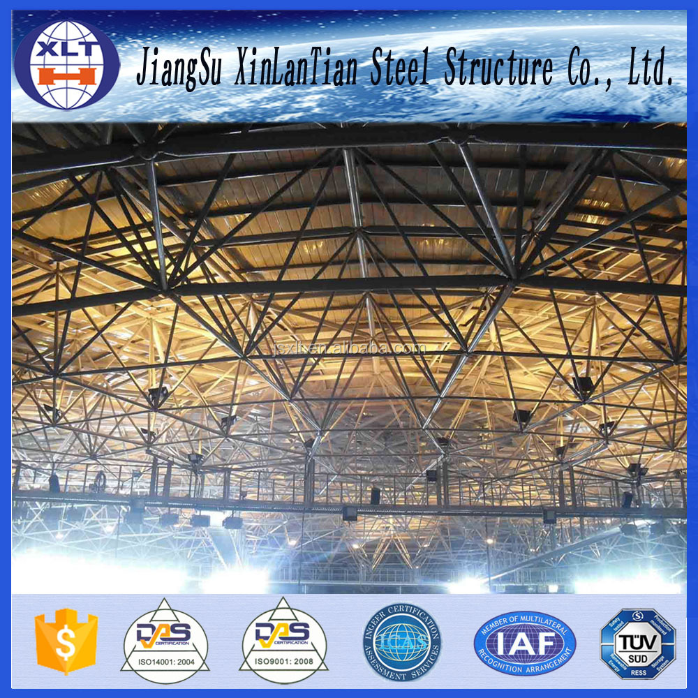 Lightweight Steel Stadium Fabrication Space Grid Frame Structure