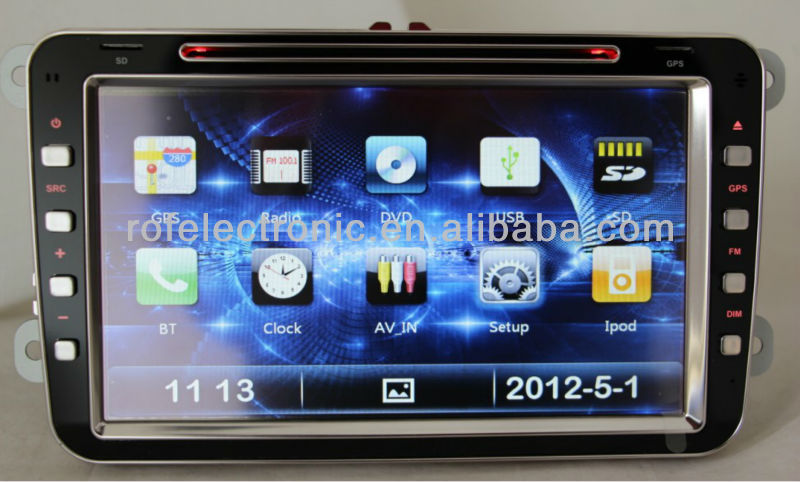 Hot sale Car GPS Sat-Nav DVD for VW with bluetooth