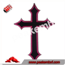 Best Quality Sew on Embroidery Stitches Filled Cross Patches Embroidery Digitizing Iron on