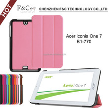 Protective back case cover accessories case cover tablet flip leather case for acer lconia one 7 B1-770