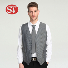 Latest design cheap price casual mens fancy vest china with logo design