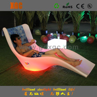 2016 best selling plastic led plastic white bench outdoor