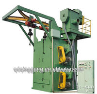QG378 Electric car parts shot blasting machine
