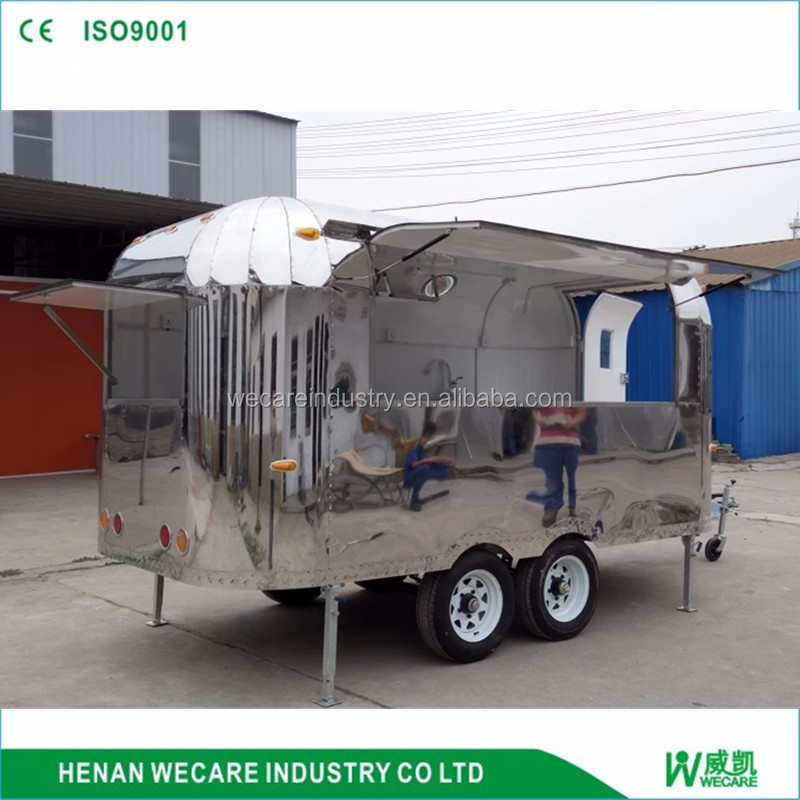 Most popular custom food cart china food truks for sale burger