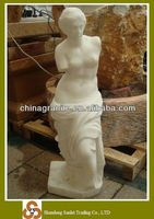 hot sale cheap price hand carved garden venus white marble statue