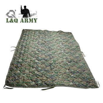 Digital Camo Blanket Military Grade Poncho Liner  All Weather Marpat Baby Blanket Woobie with Carry Bag