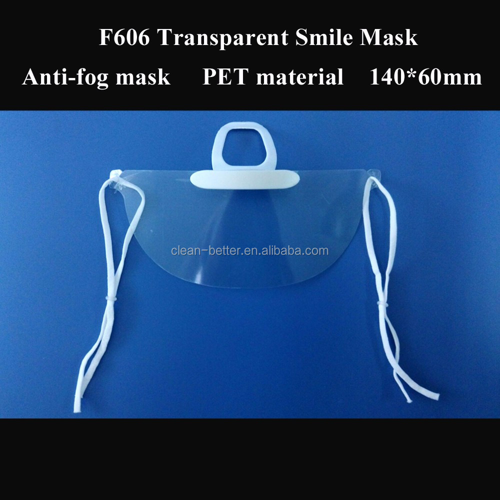 Best selling new products disposable food industry transparent clear smile restaurant face mask