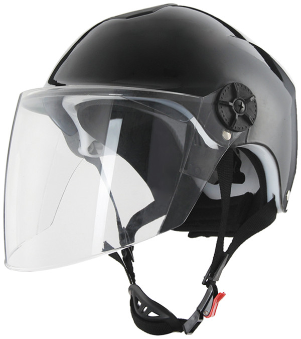 New Solid Color Half Shell Motorcycle Helmet