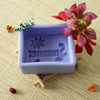 Silicone rubber lovely summer soap mould toy soap moulds H0004