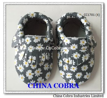 newest top quality soft sole genuine leather baby shoes