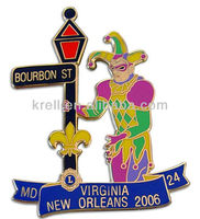 custom metal clown badge/medal/pin+fast delivery