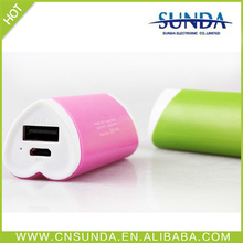 Sunda Alibaba express new Lovely 2200mah portable power bank hot selling power bank/power bank case for galaxy note 2