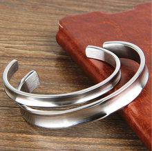 Mens Silver Cuff Bracelet Stainless Steel Bangle Bracelet Grooved Polished and Satin 92114