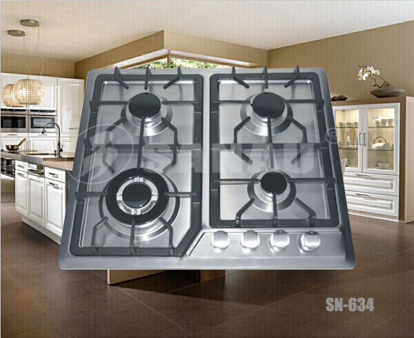 hot sell 4 burner gas cooker cooktop hob stove