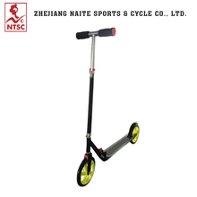 Yellow 200 mm large wheels folding kick scooter bike adult with big wheel