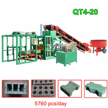 QT4-20 concrete hollow block making machine / cement solid brick machinery / automatic bricks blocks mould manufacturing product