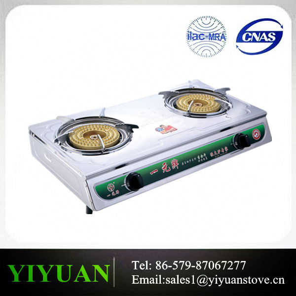 DY YYA-06Hot Selling Table Top Gas Cooker4 Burner Table Gas Stove Gas Cooker With Brass Cover