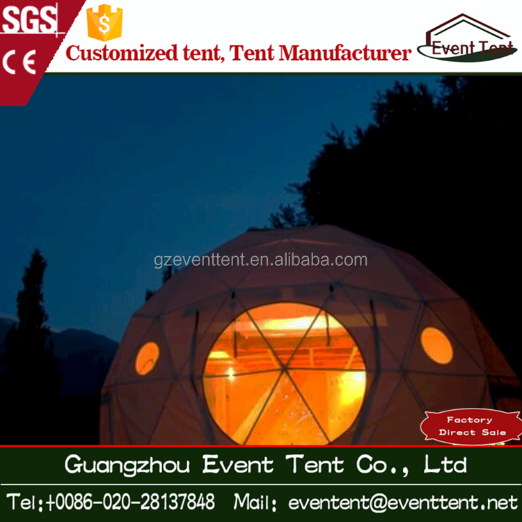 2017 Guangzhou Custom elegant Geodesic Dome Tent for glamping