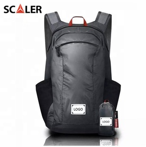 Custom Black Outdoor Lightweight 16L Waterproof Hiking Foldable Backpack for Adults