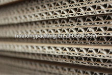 Durable corrugated thick cardboard sheet in different flute