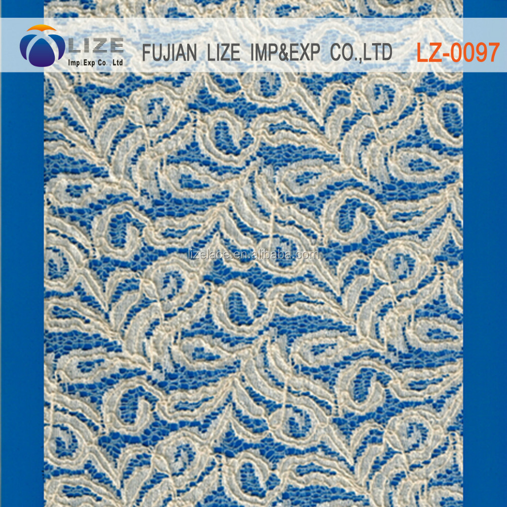 embroidery cotton lace curtain fabric african guipure cotton embroidery fabric, lace for wedding dress lz-0097