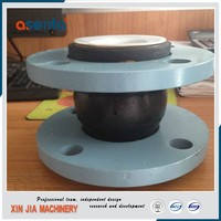 flange connected single sphere rubber bellows pipe expansion joints