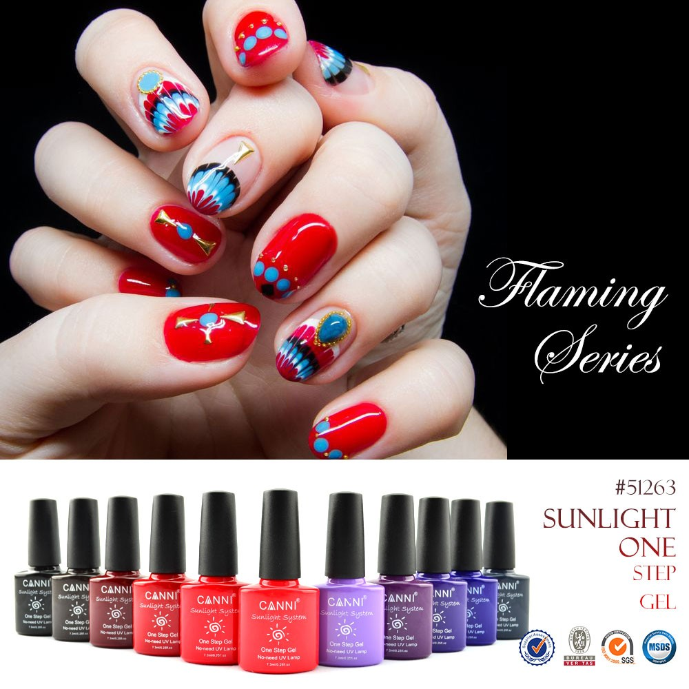 51263j Canni Wholesale Nail Art Design 29 Color Sunlight One Step Uv ...