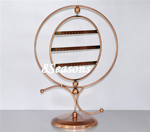 Round 44-Hole Revolving Jewelry Earrings Display Stand Holder