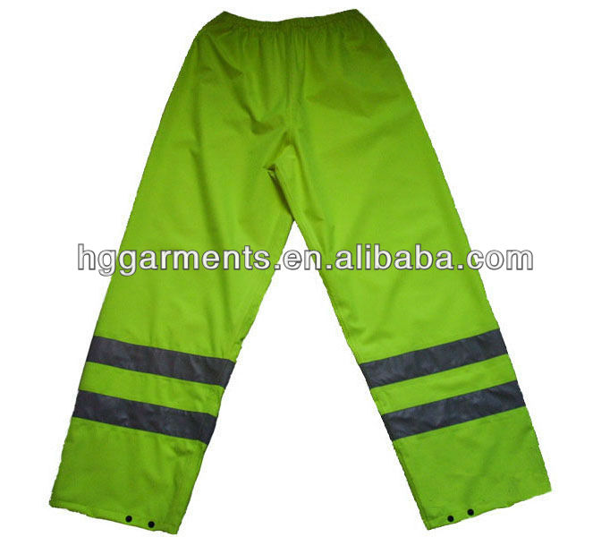 Hi Vis Workwear Safety Rain Pants
