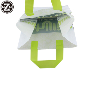 Durable 100% Biodegradable Material Hdpe/Ldpe Custom Printed Frosted Soft Loop Handle Plastic Bag